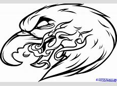 Eagle With Flame Tattoo Design