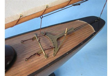 Rustic Wooden Bermuda Sloop Sailboat Model