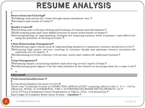 Resume Analyzer by Resume Analysis Live 29 11 13 Mini Mba Free