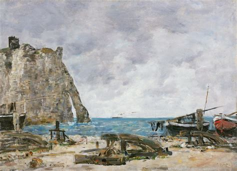 Gandalf's Gallery: Eugène-Louis Boudin - Beach at Étretat ...
