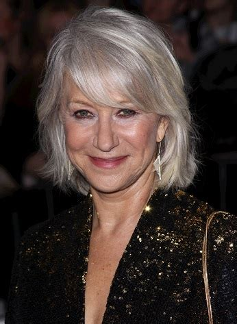 hairstyles helen mirren medium layered hairstyle