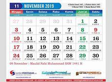 Kalender November 2019 Lengkap Cetak Kalender 2019 harga
