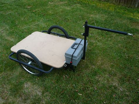 build  bicycle cargo trailer people powered