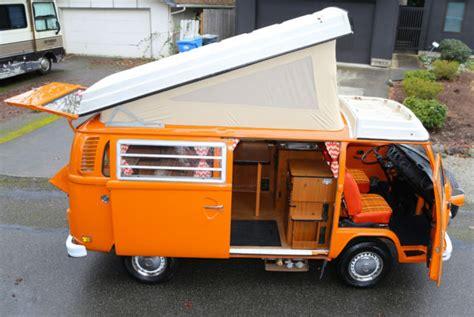 westfalia pop top camper bus van type  bay window