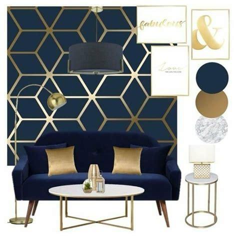 cubic shimmer metallic wallpaper navy blue gold