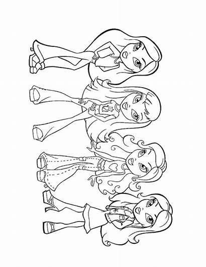 Coloring Pages Teens Printable Bratz Pretty Disney