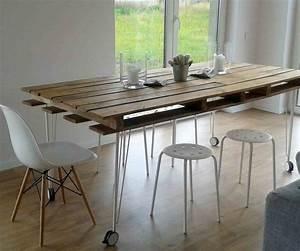Table En Palette : palettes en bois id es de bricolage de meubles ~ Melissatoandfro.com Idées de Décoration