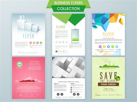 business flyer  poster modern design vector template