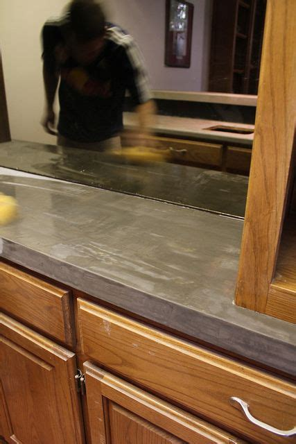 concrete kitchen cabinets 15 best trending square edge for countertops images on 2425