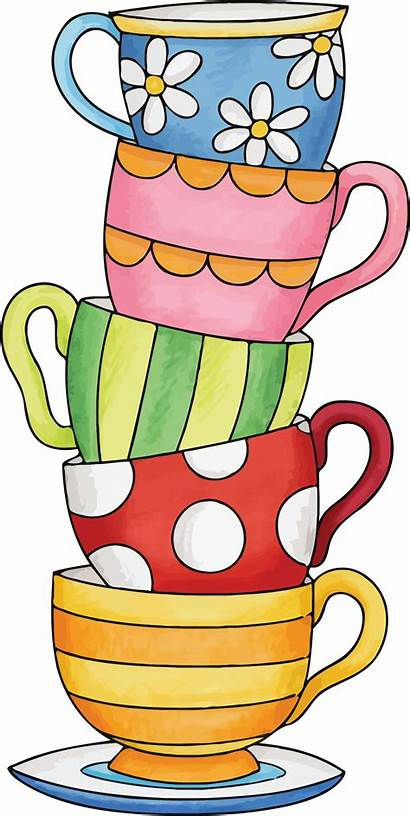 Cup Clipart Coffee Tea Cups Stack Stacked
