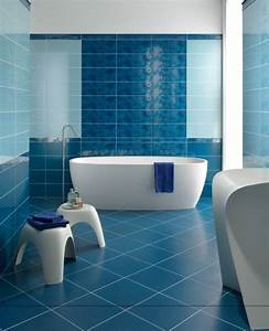 Couleur Mur Salle De Bain : couleur salle de bain bleu salle de bain peinture salle bains murs deux couleurs carrelage ~ Dode.kayakingforconservation.com Idées de Décoration