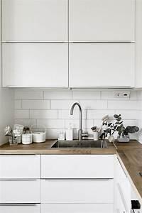 ophreycom cuisine blanche plan de travail gris With plan de travail pour cuisine blanche