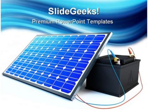 solar panel charges battery technology powerpoint
