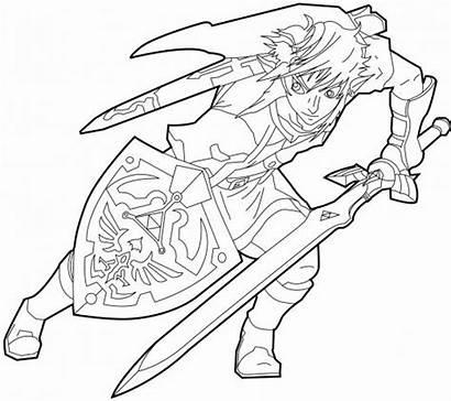 Zelda Coloring Pages Printable Legend Coloringme Follow