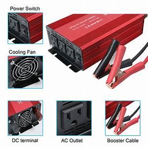 3 Ac Outlets 1000w Power Inverter 12v To 220v 1kw Price