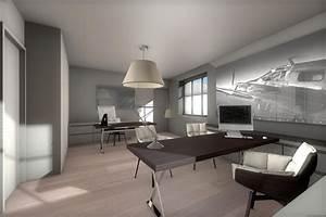 Bureau Contemporain Design : projet de r habilitation d 39 une maison d 39 habitation en espace bureau contemporain dans la r gion ~ Teatrodelosmanantiales.com Idées de Décoration