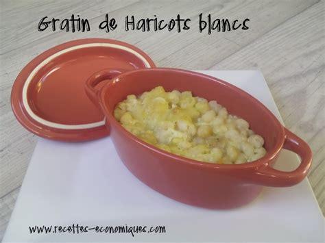 comment cuisiner les haricots blancs gratin de haricots blancs recettes de cuisine avec