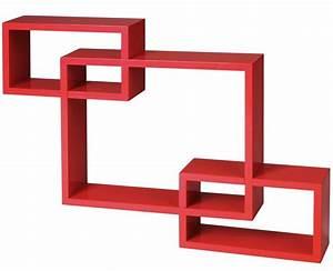 Etagere Murale Rouge : etagere murale rouge ~ Teatrodelosmanantiales.com Idées de Décoration