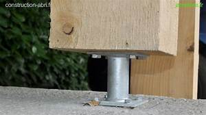 Comment Fixer Un Poteau Bois Au Sol : fixation des poteaux de l 39 abri voiture ~ Dailycaller-alerts.com Idées de Décoration