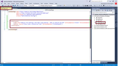 open web url  webview control  xamarinforms