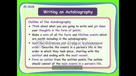writing  autobiography youtube