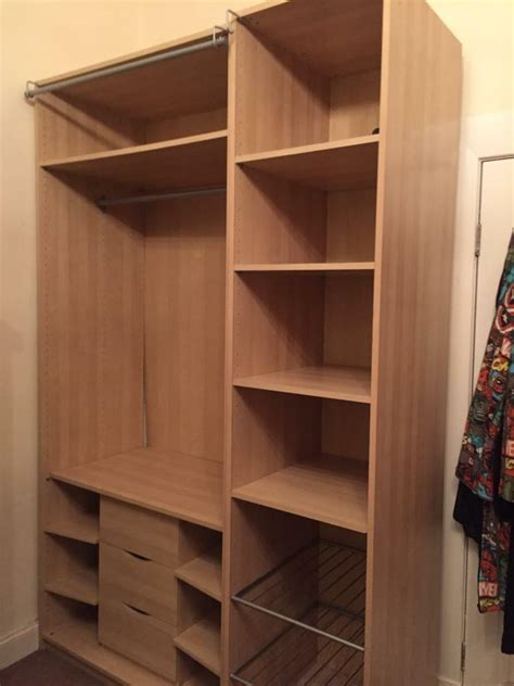 Cupboard For Clothes by 2 X Ikea Storage Units With Clothes Rail Drawers