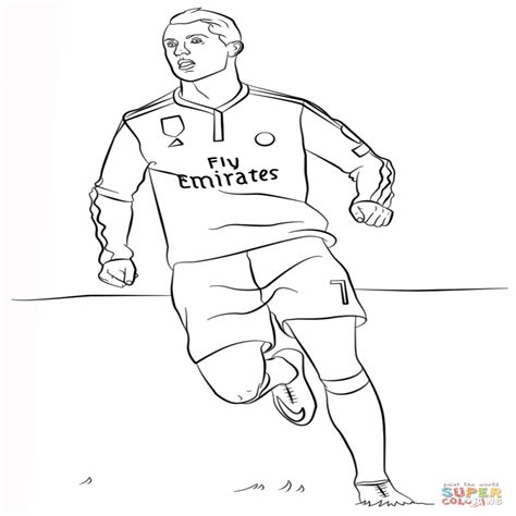 Coloriage Foot Cr7.Real Madrid Free Colouring Pages