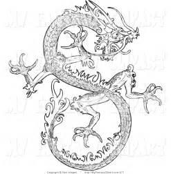 Clip Art Black and White Dragon