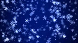 Falling Snow On Blue Background Stock Footage Video ...