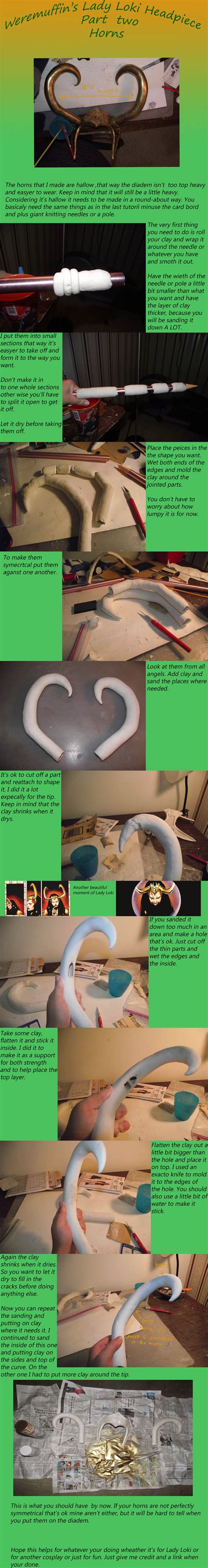 Lady Loki Tutorial Headpiece Part Two The Horns By