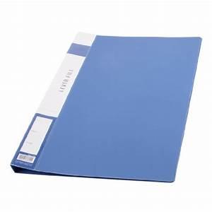 Uxcell metal clip binder blue plastic document file folder for Document binder folder