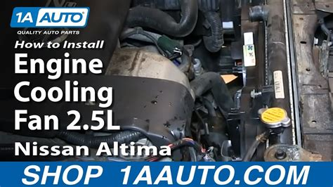 install replace radiator engine cooling fan