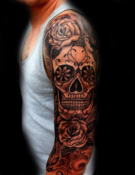 Sugar Skull Tattoo Designs For Men Cool Calavera Ink