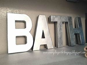hobby lobby cardboard letters painted with metallic spray With large cardboard letters hobby lobby