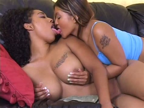 Slutty Asian Lesbian And Her Sexy Ebony Kooky Show Off