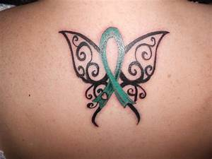 tattoo for my husband - green for liver cancer and organ ...