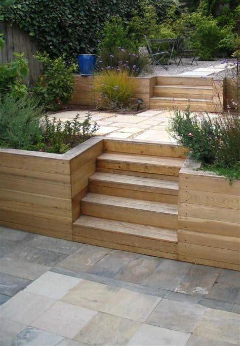 terraced garden retaining wall bay area back yard