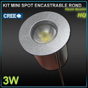 Mini Spot Led Encastrable : kit 6 mini spot led 3w 4500k 30 driver led eco first ~ Dode.kayakingforconservation.com Idées de Décoration