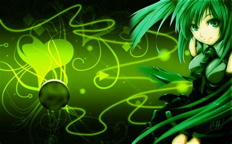 Green Anime Wallpaper - green vocaloid other anime background wallpapers on