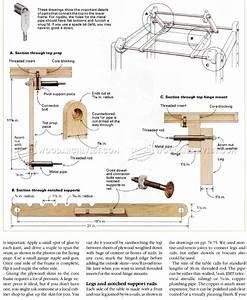 Knockdown Drafting Table Plans • WoodArchivist
