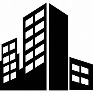 City buildings silhouette Icons Free Download