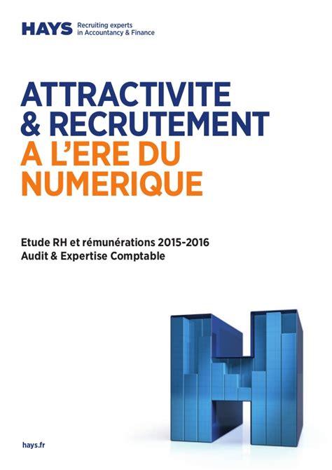 hays etude rh et remunerations 2015 2016 audit et expertise comptable