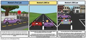 Newton U0026 39 S Laws Of Motion By Megan Knight Storyboard