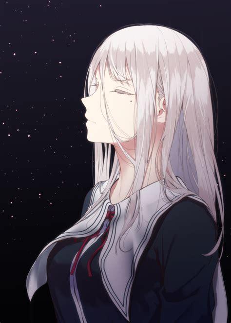 ผลการค้นหารูปภาพสำหรับ Anime Girl With White Hair In A
