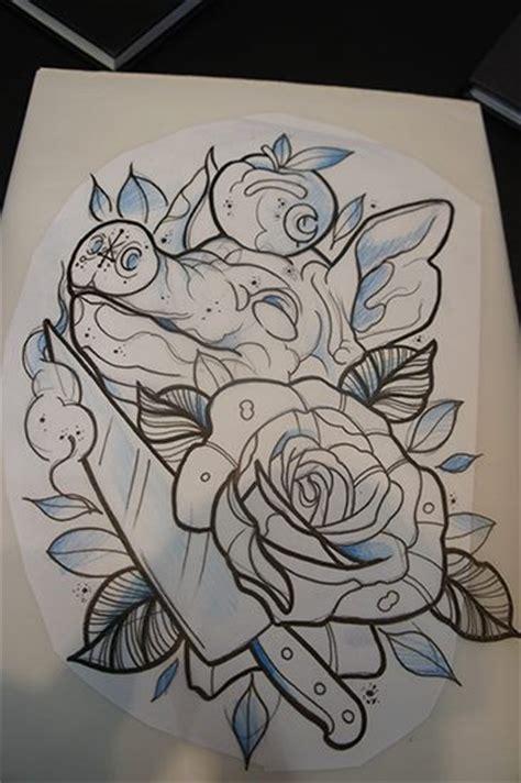 New School Rose Tattoo Designs