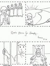 Joseph Coloring Bible Pages Story Jail Sheet Sold Slavery Into Children Printable Sheets Printables Stories Ministry Para Christian Template Jose sketch template