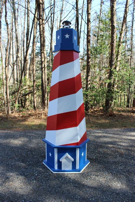 patriotic usa lawn lighthouse diy woodworking plans