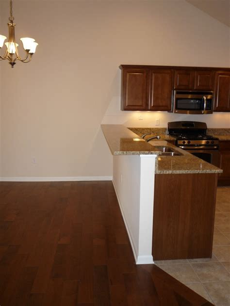 Abbey kitchen breakfast bar with granite countertops