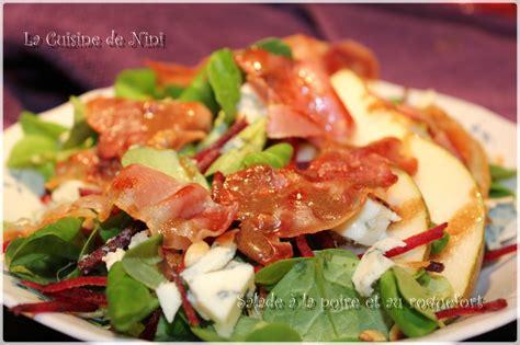 cuisine de nini salade à la poire et au roquefort la cuisine de nini