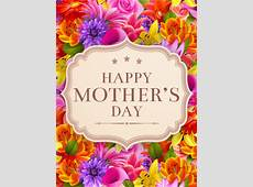 Fancy Flower Happy Mother's Day Card Birthday & Greeting